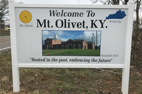Welcome to Mt Olivet sign